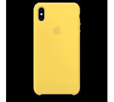 Силиконовый чехол для Apple iPhone XS Silicone Case (сочный желтый)