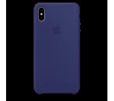 Силиконовый чехол для Apple iPhone XS Silicone Case (темно-синий)