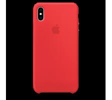 Силиконовый чехол для Apple iPhone XS Silicone Case (красный)