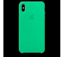 Силиконовый чехол для Apple iPhone XS Silicone Case (мятный)