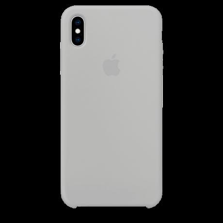 Силиконовый чехол для Apple iPhone XS Silicone Case (белый)